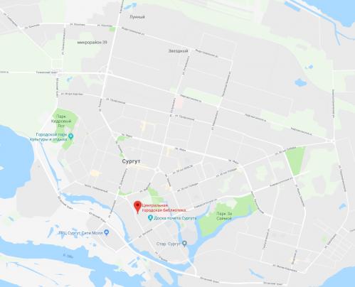 Схема размещения ЦБС на карте города