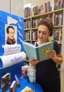 Громкие чтения в библиотеке на улице Крылова.