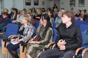 В первом ряду слева направо - А.В. Лазарева, поэтесса, член Союза писателей России, С.П. Суханова, дочь поэта, А.П. Суханов, сын поэта