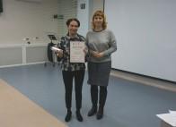 Победитель в категории от 31 года Н. Матвиенко, зам. директора ЦБС по информационным технологиям А.Г. Дарутина