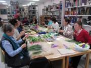 Второй этап работы – сбор цветов и листьев